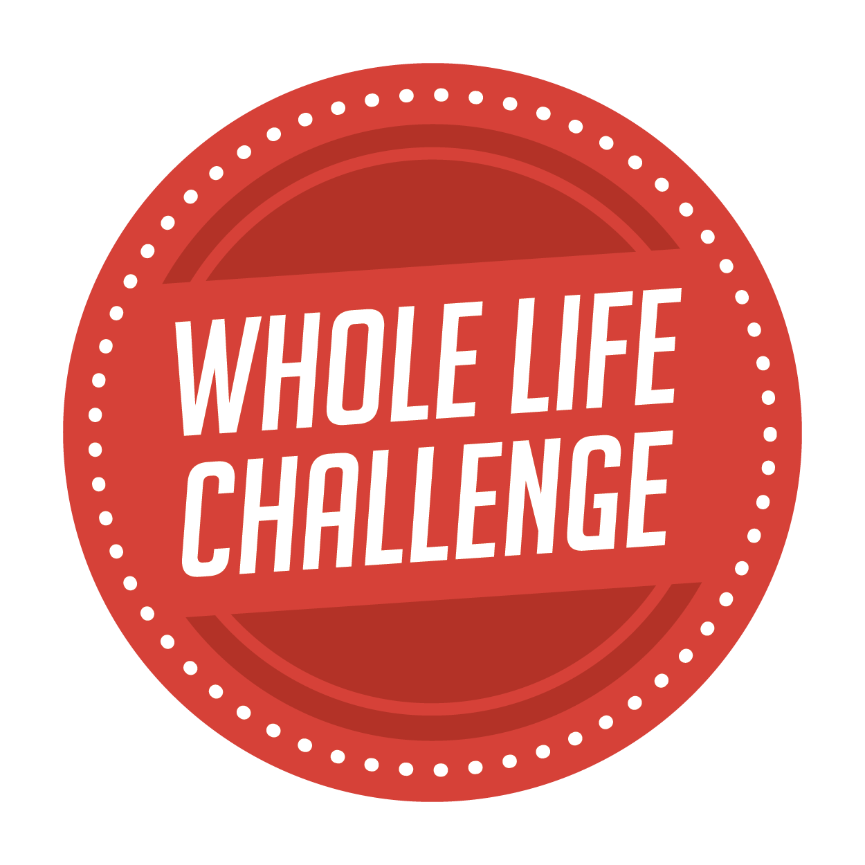 Whole life challenge red logo
